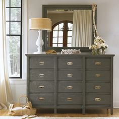 Complete your cottage inspired bedroom decor with the Haven& Harbor Dresser from Stanley Furniture& Coastal Living Resort Collection. This distressed dresser features 12 spacious drawers