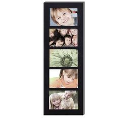 AdecoTrading 5 Opening Wood Photo Collage Wall Hanging Picture Frame