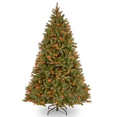 """Christmas Tree : National Tree """"Feel-Real"""" Bayberry Spruce Hinged Tree with 700…"""