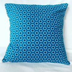 Fabric Patterns, My Etsy Shop, Cushions, Gems, African, Inspired, Cover, Handmade Gifts, Blue