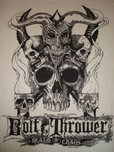 """bulletride-actionwear:  """"late 80s death metal - BOLT THROWER """"Realm of Chaos"""" """""""