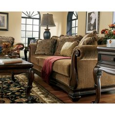 Fresco DuraBlend - Antique Stationary Living Room Group by ...