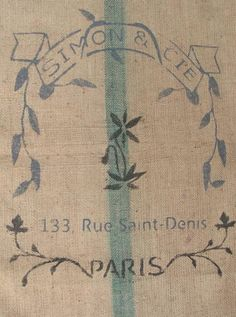 French grain sack.