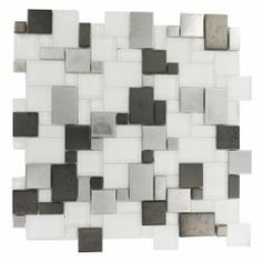 Glass Mosaic Tiles in grays and black|