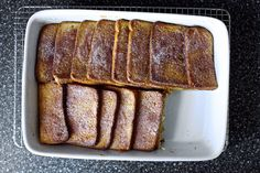 Cinnamon Toast French Toast Recipe Breakfast and Brunch with granulated sugar, ground cinnamon, white sandwich bread, unsalted butter, whole milk, large eggs, table salt, vanilla extract
