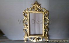 Antique Gold Mirror Classic Carving | Gold Furniture Luxury Furniture Design Victorian Baroque Rococo French Style