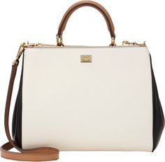 "Dolce & Gabbana SS 2014 beige small ""Miss Sicily"" bag."