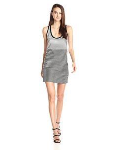 Rebecca Minkoff Women's Brady Striped Jersey Tank Dress