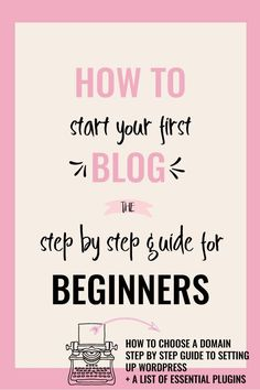 How To Start a Blog: A Step by Step Guide for Beginners. An easy to follow & detailed guide on exactly how to start a blog, purchase hosting & step up WordPress. It also includes a list of useful resources & plugins. via @Creative & Coffee