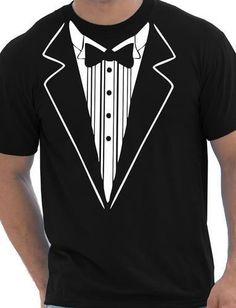 Tuxedo Fancy Dress Funny Mens T-Shirt Size S-XXL #SGFRUITGILDAN