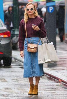 Una Tendencia Olvidada Que Parece Estar De Vuelta: Las Maxi Faldas De Jeans | Cut & Paste – Blog de Moda