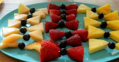 Bow tie fruit... Would be so cute for a boy baby shower!