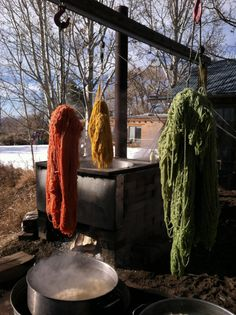 2-ply Tapestry Yarn just out of the dyepot