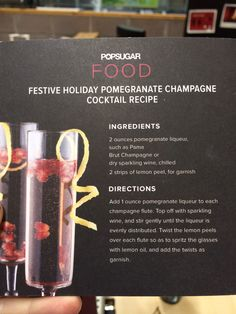 Pomegranate Champagne Cocktail.