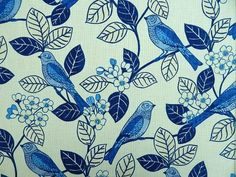 Click link to PURCHASE fabric by the yard: https://1502fabrics.com/product/home-accent-fabrics-chickadee-blue-willow/?_sft_fabric_application=upholstery-fabric&sf_paged=2 Chickadee Blue Willow {bird birds}