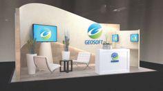 Geosoft 10' x 20' custom booth