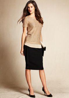 ESCADA Black Ruffle Detail Skirt