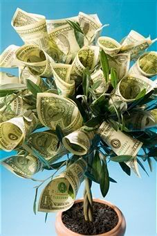 """Creative Cash Gift - A Money Tree. Attach dollar """"leaves"""" to a real or fake plant Homemade Gifts, Diy Gifts, Folding Money, Origami Folding, Money Origami, Money Trees, Graduation Gifts, Creative Gifts, Party Gifts"""