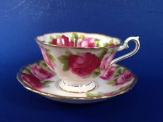 A personal favorite from my Etsy shop https://www.etsy.com/ca/listing/538415754/royal-albert-old-english-rose-teacup-and