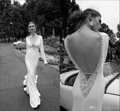 2016 Alessandra Rinaudo Gorgeous Wedding Dresses Long Sleeve Sexy Deep V Neck Backless Fully Beading Crystal Fashion Wedding Gowns Bridal Bridal Store Cheap Gowns From Molly_bridal, $115.19  Dhgate.Com