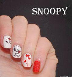 Snoopy :D - Yasinisi Snoopy Nails, Born Pretty, Snoopy And Woodstock, Nail Stamping, Nail Colors, My Nails, Nail Designs, Colorful Nail, Nail Art