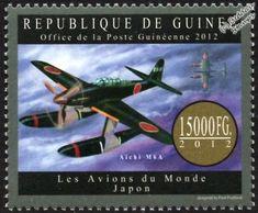 WWII-IJN-AICHI-M6A-SEIRAN-Floatplane-Seaplane-Bomber-Aircraft-Stamp