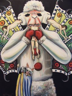 """Lambifer Chop by Hillary White    Acrylic on canvas, 2012.    based on """"Lucifer"""" from the Codex Altonensis. Freaking Love it."""