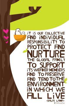 Dalai Lama Birds in a Tree Poster by themangotreeproject on Etsy, $19.00