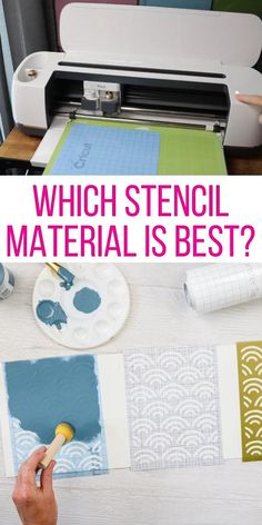 AD: Which material should you use when making a stencil on your Cricut? We are comparing three different types of vinyl to see which will work best for your stencil crafts. If you are painting a project, be sure to watch this video before you choose your material. #cricut  #cricutcreated #stencil #vinyl #stencilcrafts #paint #painting How To Use Cricut, How To Make Stencils, Making Stencils, Cricut Stencil Vinyl, Cricut Iron On Vinyl, Cricut Air 2, Vinyl Paper, Cricut Explore Projects, Cricut Project Ideas