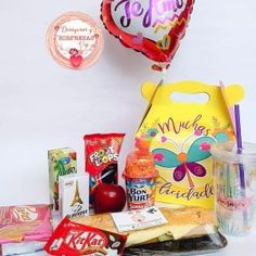 Snack Recipes, Snacks, Chocolates, Chips, Inspired, Ideas, Amor, Gift Baskets, Balloon Surprise