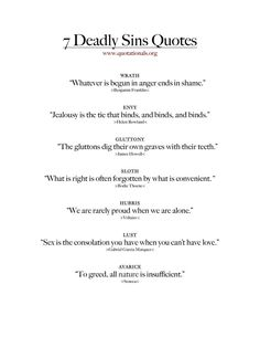 Quotes about the 7 deadly sins . - Quotes about the 7 deadly sins … quotes truths # Deadly sins - Sin Quotes, Poem Quotes, Words Quotes, Best Quotes, Escape Quotes, Latin Phrases, Latin Sayings, Latin Words, Latin Quotes About Life