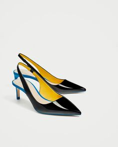 ZARA - WOMAN - CONTRAST MID-HEEL SHOES