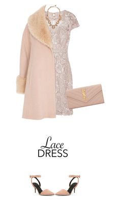 """""""Lovely Lace"""" by polylana ❤ liked on Polyvore featuring Mikael Aghal, Alexander Wang, Yves Saint Laurent, Kate Spade, Coast and lacedress"""