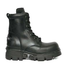 BLACK NEW ROCK MILITARY HALF-BOOTS WITH METAL-FITTINGS ZIPPER, LACING AND REACTORSOLE. http://www.tribugotica.com/en/newrock/71-black-new-rock-military-half-boots-metal-fittings.html?utm_campaign=crowdfire&utm_content=crowdfire&utm_medium=social&utm_source=pinterest
