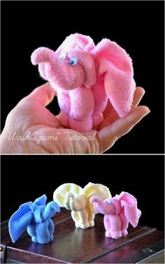 - Creative Ideas DIY Towel Elephant Creative Ideas DIY Towel Elephant - Washcloth - Ideas of Washcloth - Baby Shower Elephant Towel, Elephant Crafts, Elephant Theme, Towel Origami, Towel Animals, How To Fold Towels, Cute Baby Gifts, Baby Washcloth, Towel Crafts