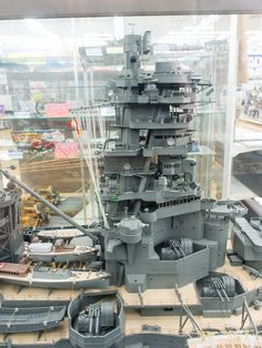 "IJN Battleship-Carrier ""Ise"" 1/100 scale Model in Museum quality finish. 日本海軍航空戦艦-伊勢 #? (Pin-it to Big Warship Models)"