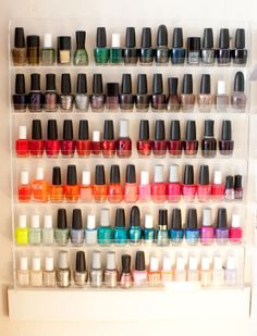 Nail Polish Display Style At Home: Catherine Sheppard Of The Life Styled Makeup Storage, Makeup Organization, Genius Ideas, Manicure, Nail Polishes, Gel Nail, Nail Polish Storage, Home Salon, Hipster