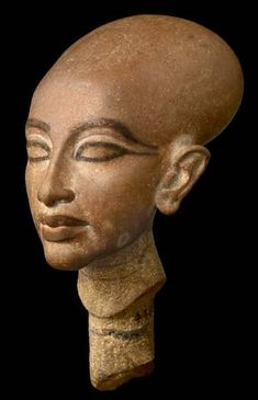 Amcient Egypt ©: Head of an Amarnian princess, probably Meritaten. [{This yellow-brown quartzite head of a princess is probably Meritaten, the eldest daughter of Akhenaten. It was excavated by the Deutsche. Ancient Egypt History, Ancient Egyptian Art, Ancient Aliens, Ancient Greece, Egyptian Drawings, Egypt Museum, Ancient Mysteries, Ancient Artifacts, Valley Of The Kings
