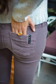 lavender jeans - loving the STUD detailing!!!