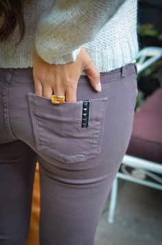 Love the color of these jeans and detail on the pocket.