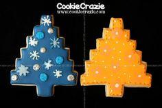 CookieCrazie: Homespun Christmas Tree Christmas Tree Cookies, Christmas Ornaments, Tree Cutter, Cakes, Holiday Decor, Firs, Cake Makers, Christmas Jewelry, Kuchen