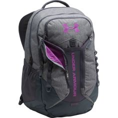 Under Armour Storm Contender Backpack, Grey/Black/Purple Rav Cute Backpacks For School, Cute School Bags, School Bags For Girls, Popular Backpacks, Trendy Backpacks, Leather Backpacks, Leather Bags, Chic Backpack, Backpack Bags