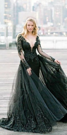 Wedding Dress Black, Black Wedding Dresses, Elegant Dresses, Pretty Dresses, Sexy Dresses, Beautiful Dresses, Summer Dresses, Formal Dresses, Black Weddings