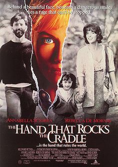 The Hand That Rocks The Cradle ~ Rebecca De Mornay, Matt McCoy, Julianne Moore, Ernie Hudson. Best Horror Movies, Scary Movies, Good Movies, Movies To Watch, Film Watch, Awesome Movies, 80s Movies, Julianne Moore, See Movie