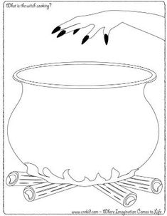 Halloween - What is the witch cooking color pageHvad kommer der i gryden?After school kids Halloween Quilts, Theme Halloween, Halloween Drawings, Halloween Crafts For Kids, Halloween Pictures, Holidays Halloween, Halloween Decorations, Magie Harry Potter, Imagination Drawing