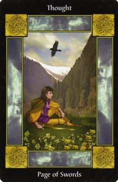Page of Swords the Sacred Circle tarot created by Anna Franklin and Published by Llewellyn Deck