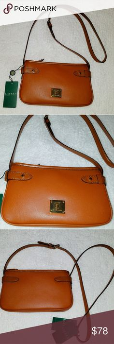 🎉New Ralph Lauren Crossbody Purse🎉 Brand New Ralph Lauren  Crossbody Purse  Classic Tan Color 100 % Authentic  Never Worn  Retail $130 Ralph Lauren Bags
