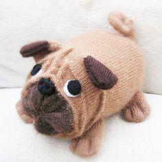 Stuffed Dog Pug Carlin Mops  Decorative Pillow  Soft by Cozychic99