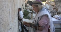 First  service at Ezrat Israel section of the Kotel (Western Wall) - new egalitarian section