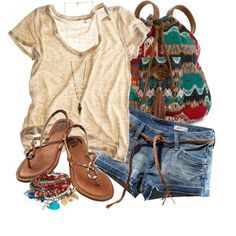 30 Cute Casual Summer Outfits Combinations I like the shirt and bag